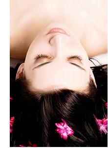 髪のきれいなモデル画像
